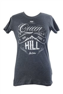 T-shirt - Queen of the hill (dam, svart)