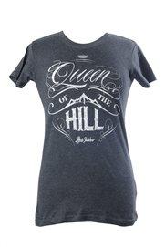 T-shirt - Queen of the hill (dam, svart)