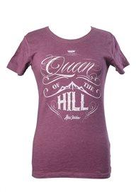 T-shirt - Queen of the hill (dam, lila)