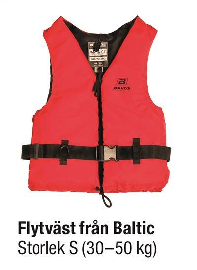 FLYTVÄST RÖD STL S 30-50 kg