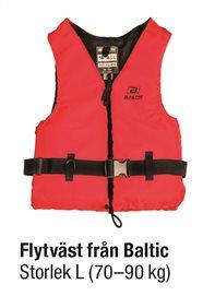 FLYTVÄST RÖD STL L 70-90 kg