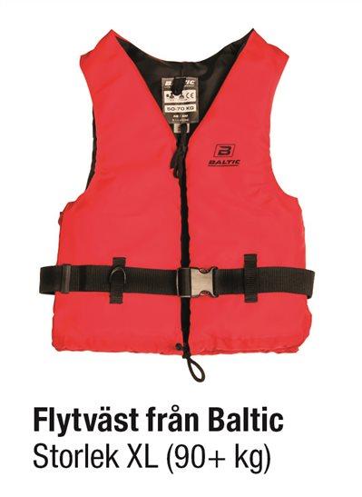 FLYTVÄST RÖD STL XL 90+ kg