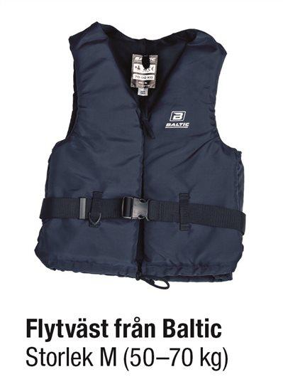 FLYTVÄST BLÅ STL M 50-70 kg