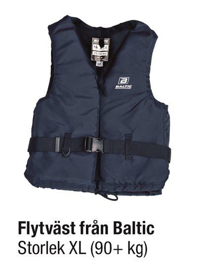 FLYTVÄST BLÅ STL XL 90+ kg