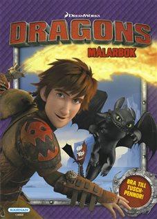 Dragons - Målarbok
