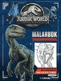Målarbok Jurassic world