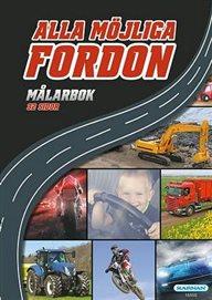 Målarbok Alla möjliga fordon
