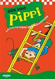 Pippi Aktivitets- och målarbok