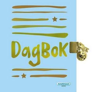Dagbok - Ljusblå