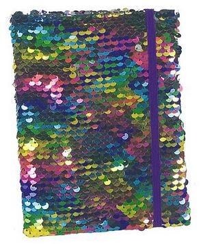 Anteckningsbok - Paljetter regnbåge