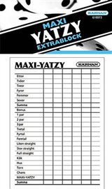 Extrablock till Maxi Yatzy