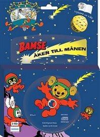 Bamse åker till månen - Bok med CD