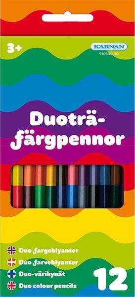 Duoträfärgpennor 12 st